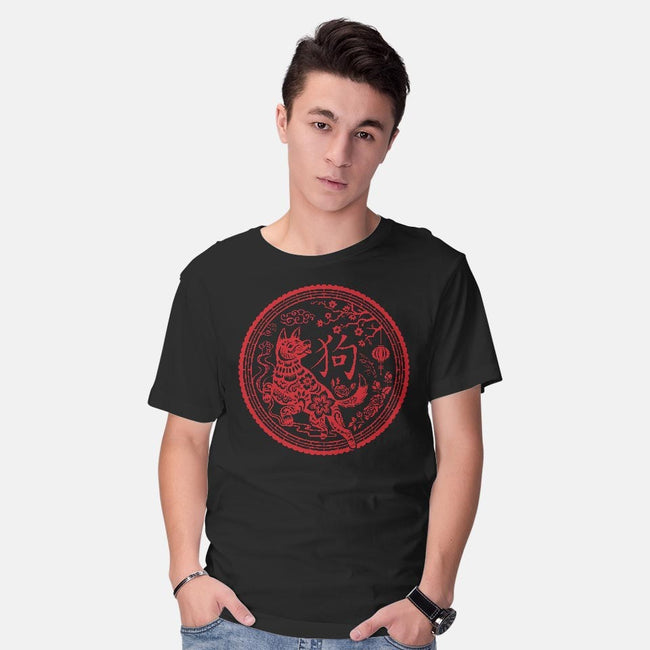 Year of the Dog-mens basic tee-Kat_Haynes