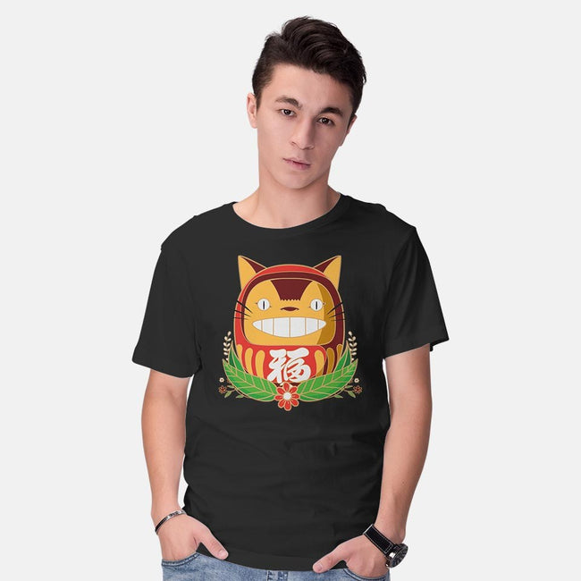 Catbus Daruma-mens basic tee-Coconut_Design