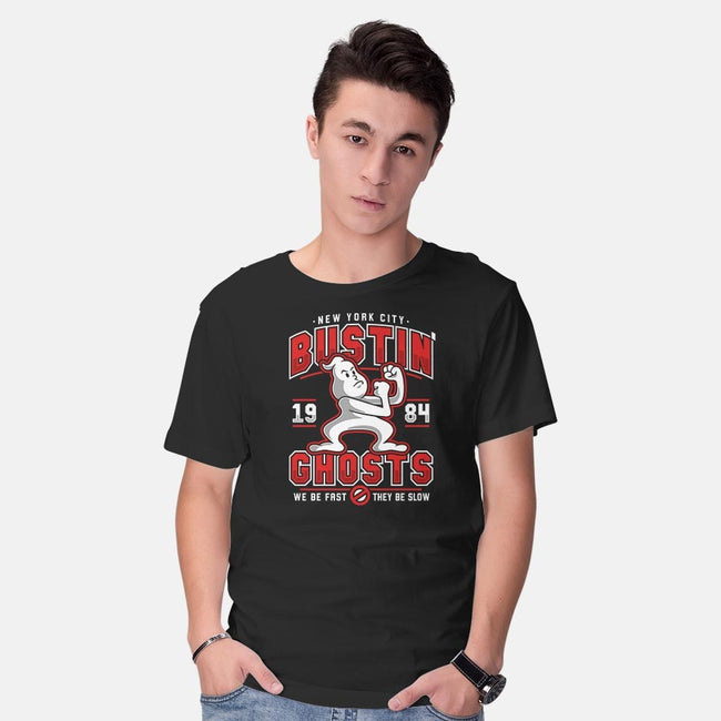 Bustin' Ghosts-mens basic tee-adho1982