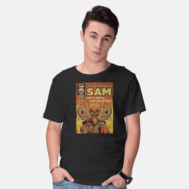 The Punisher Sam-mens basic tee-Green Devil