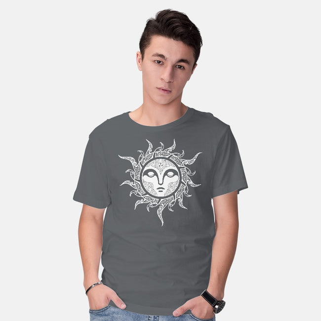 Yule Midwinter Sun-mens basic tee-RAIDHO