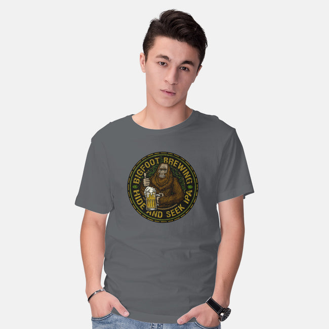 Bigfoot Brewing-mens basic tee-roosterbrand