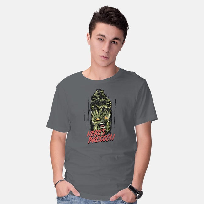 Here's Broccoli-mens basic tee-AlbertoArni