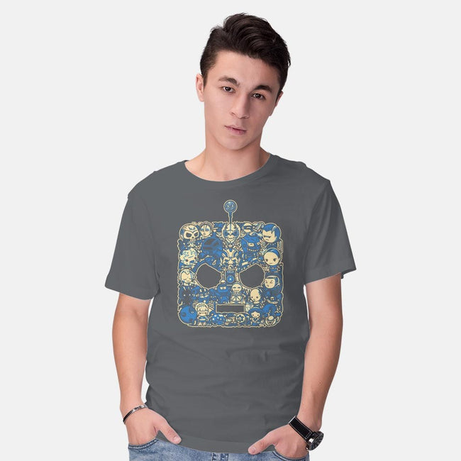Bad Lil Robots-mens basic tee-PrimePremne