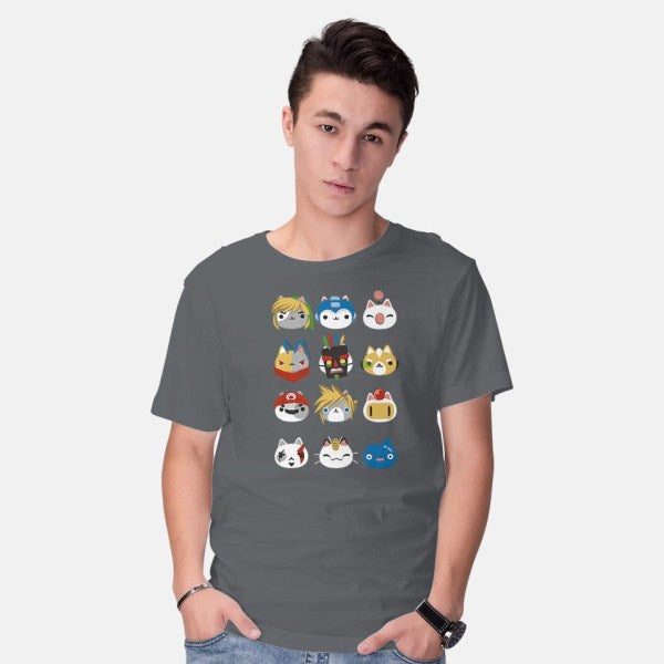 Gamer Cats-mens basic tee-BlancaVidal