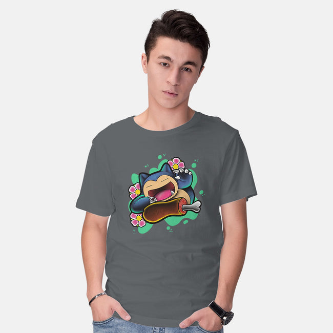 Time to Eat-mens basic tee-ithrowtrainz