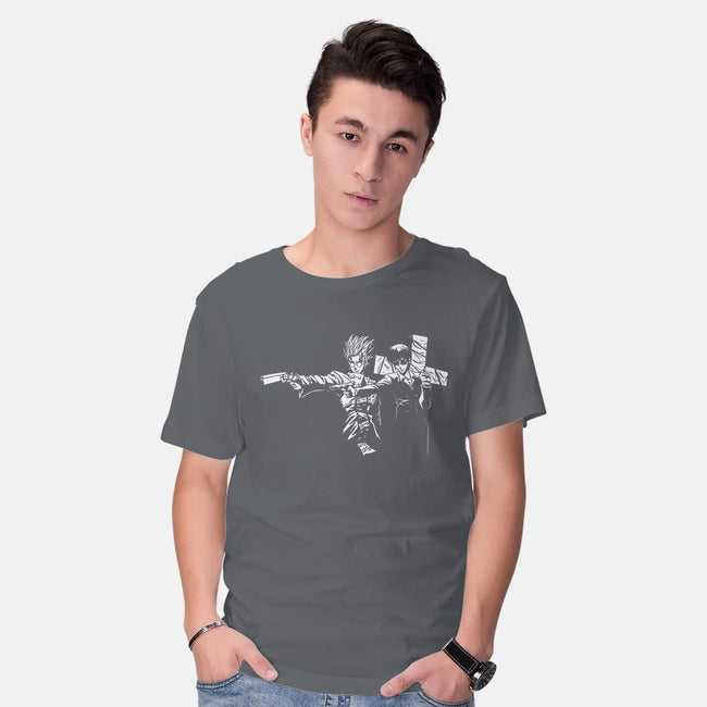 Trigun Fiction-mens basic tee-Coinbox Tees