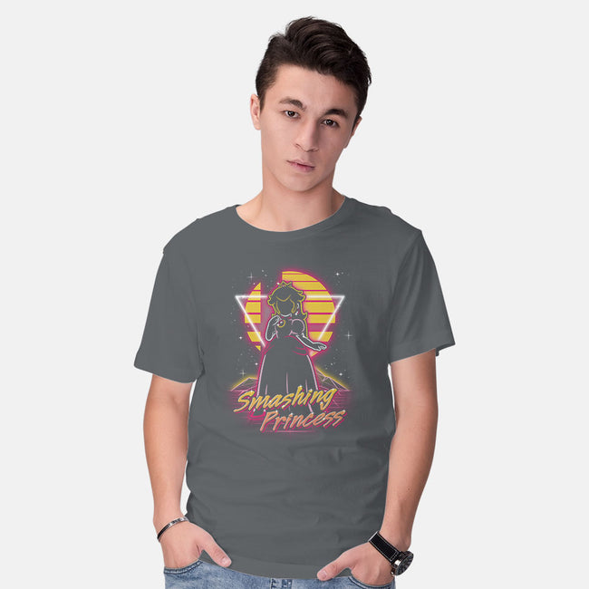 Retro Smashing Princess-mens basic tee-Olipop