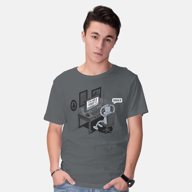 Robot Problems-mens basic tee-Gamma-Ray