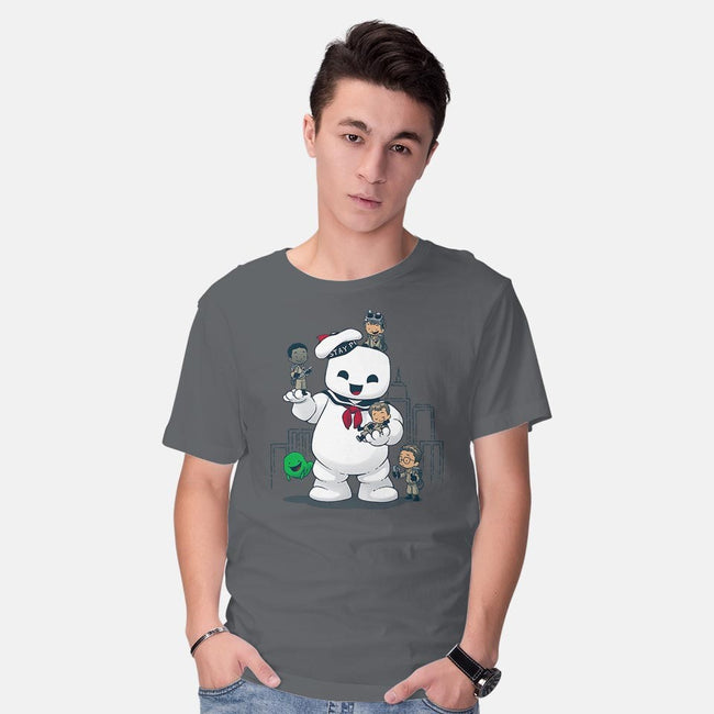 Puft Buddies-mens basic tee-DoOomcat