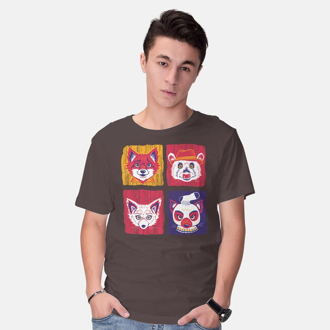 Fantastic Fox Friends-mens basic tee-Miranda Dressler