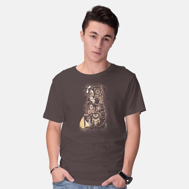 Let the Wild Rumpus Start-mens basic tee-Florey