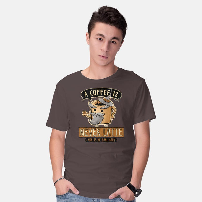 A Coffee is Never Latte-mens basic tee-Hootbrush