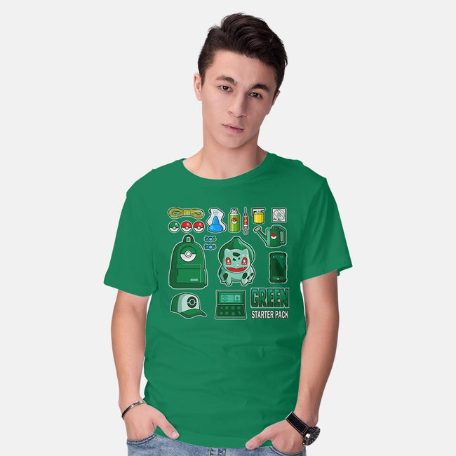 Green Starter Kit-mens basic tee-MIKELopez