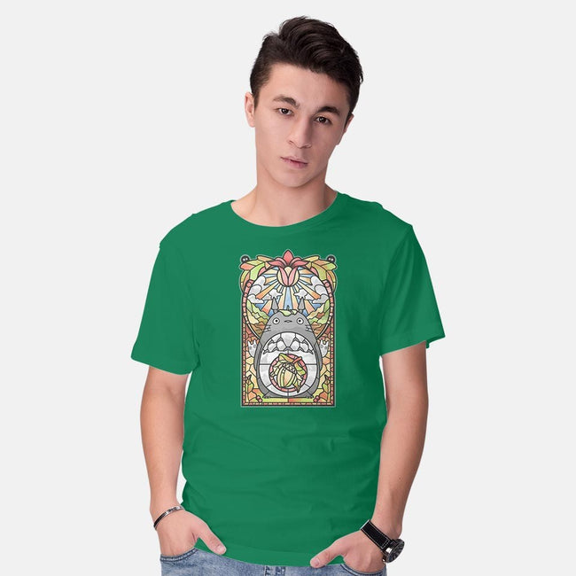 Stained Glass Forest Spirit-mens basic tee-AutoSave