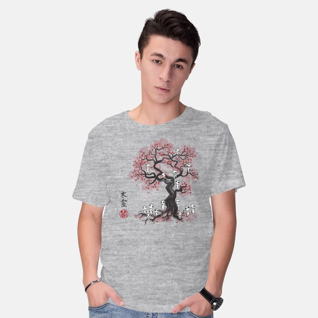 Forest Spirits Sumi-e-mens basic tee-DrMonekers