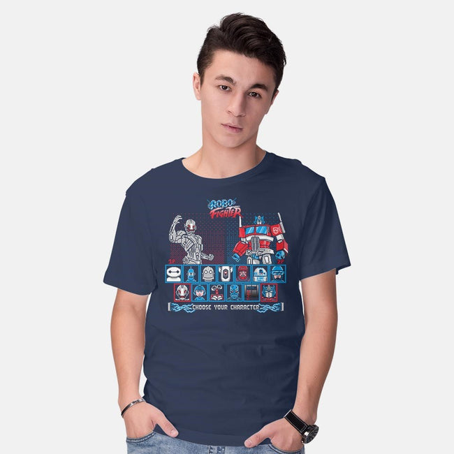 Robo Fighter-mens basic tee-LavaLampTee
