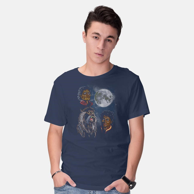 Threeller Moon-mens basic tee-ddjvigo