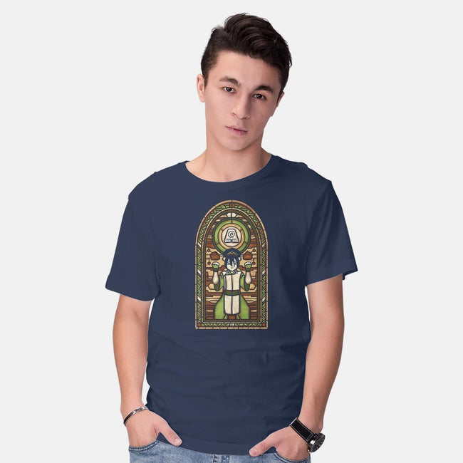 Stained Glass Earth-mens basic tee-Fishmas