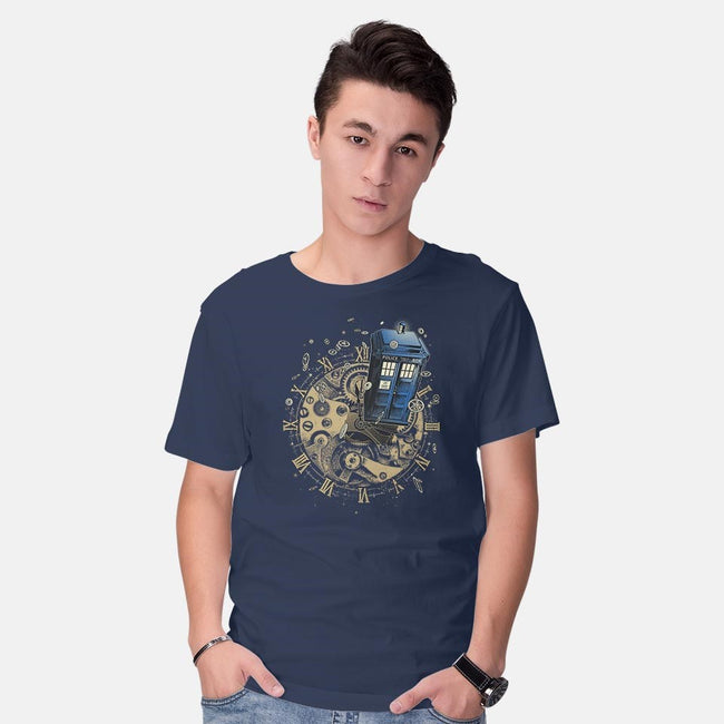 WATCH THE TIME-mens basic tee-RicoMambo