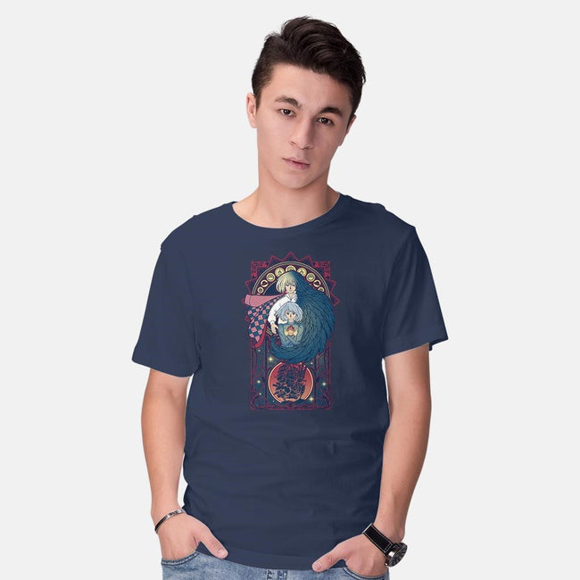 Art of a Moving Castle-mens basic tee-Chocolateraisinfury