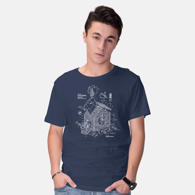 Trojan Rabbit-mens basic tee-vomaria
