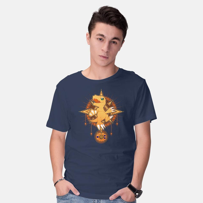 Crest of Courage-mens basic tee-Chocolateraisinfury