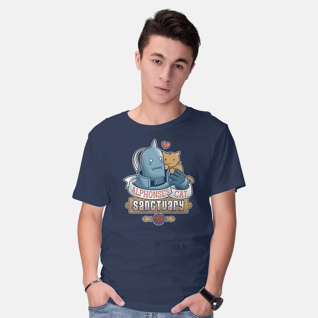 Alphonse's Cat Sanctuary-mens basic tee-adho1982