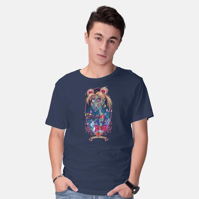 Eating Brains By Moonlight-mens basic tee-Ghosthause