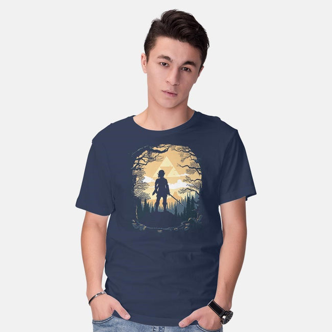 Warrior in the Forest-mens basic tee-albertocubatas