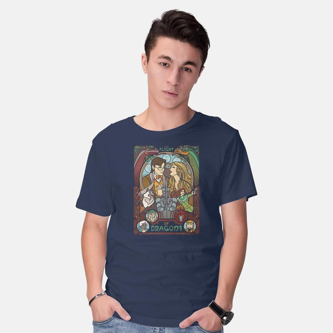 The Flight of Dragons-mens basic tee-ursulalopez