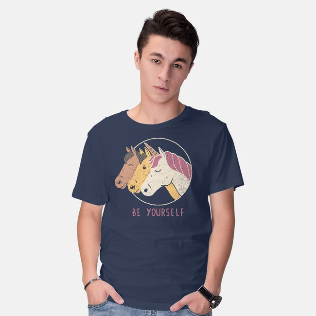 Unless You Can Be a Unicorn-mens basic tee-tobefonseca