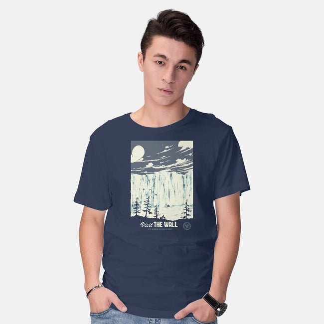 Visit The Wall-mens basic tee-Mathiole