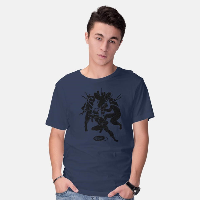 4 Ninjas in this Shirt.-mens basic tee-zerobriant