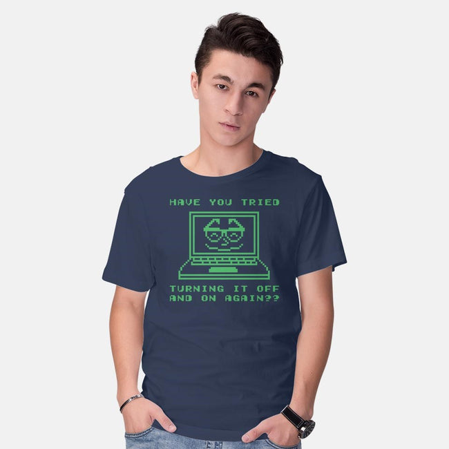Tech Support-mens basic tee-Beware_1984
