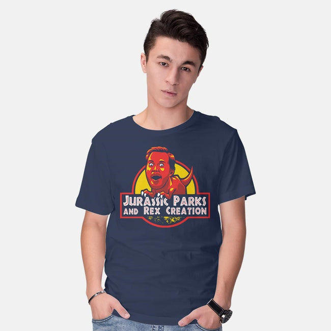 Jurassic Parks and Rex Creation-mens basic tee-Tabners