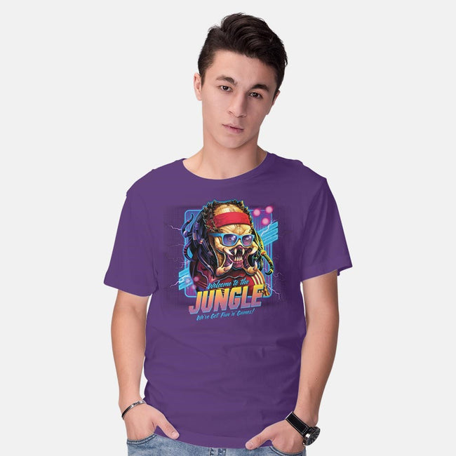 Welcome To The Jungle-mens basic tee-RockyDavies