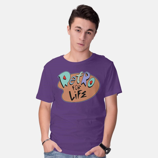 Retro for Life!-mens basic tee-ClayGrahamArt