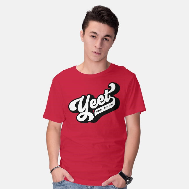 Yeet Yourself-mens basic tee-mannypdesign