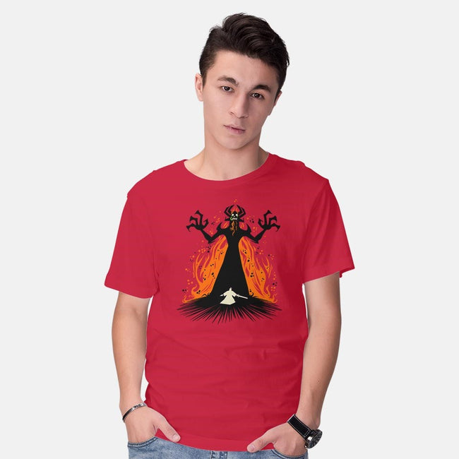 The Shape-shifting Master of Darkness-mens basic tee-Fishmas