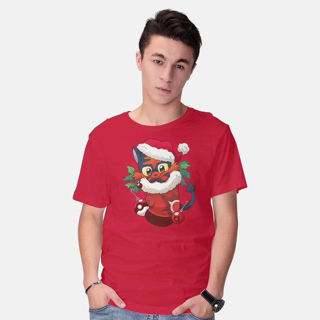 Fire Cat Stocking Stuffer-mens basic tee-DoOomcat