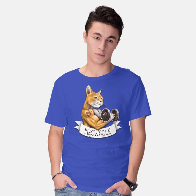 Meowscle-mens basic tee-C0y0te7