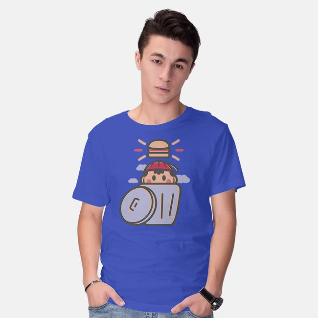 Trash Burger-mens basic tee-Minilla