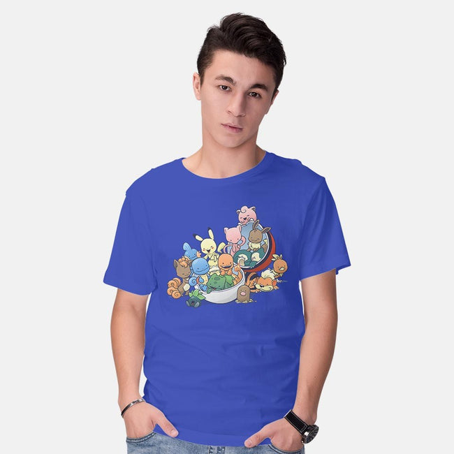 Gotta Fit Them All-mens basic tee-DoOomcat