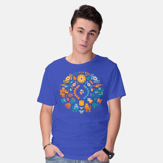 Blue is Always Stronger-mens basic tee-Jude Buffum