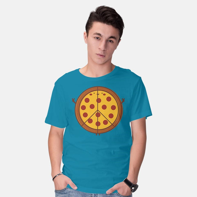 Peace of Pizza-mens basic tee-tofusan