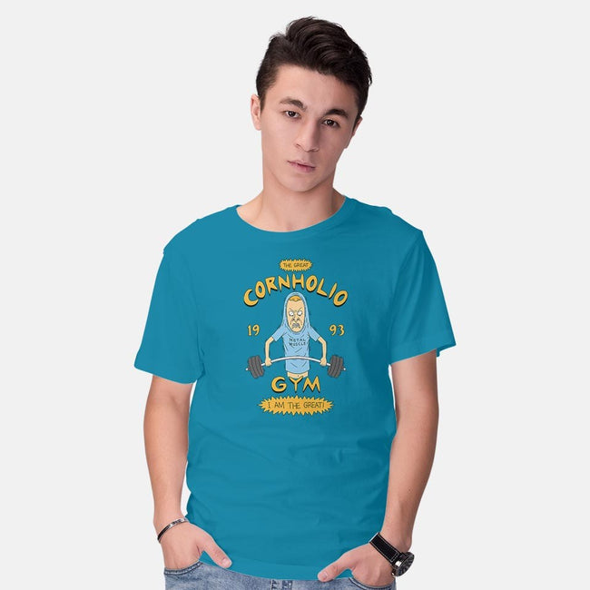 Cornholio's Gym-mens basic tee-pigboom