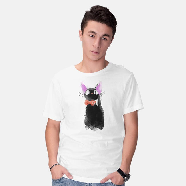 Watercolor Cat-mens basic tee-ddjvigo