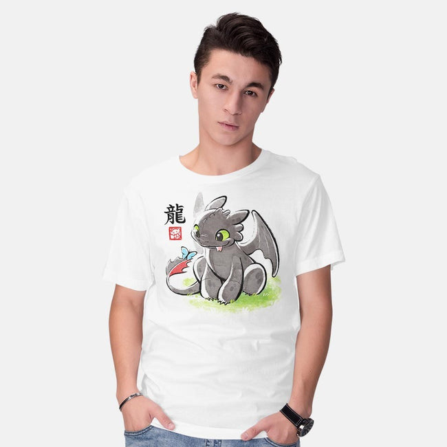 Inked Dragon-mens basic tee-BlancaVidal