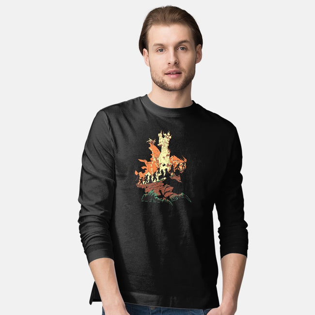 Unfinished Ruin-mens long sleeved tee-Adams Pinto